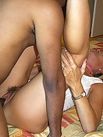 Interracial action with Susan and pro porn stud Ace #3