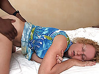 Her husband fucks Cathy after a BBC creampie